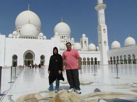Mosquée Cheikh Zayed : vista do pateo interno