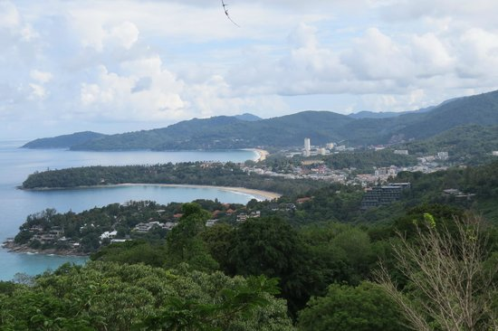 Le Meridien Phuket Beach Resort: A view of the private beach from high above