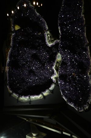 Perot Museum of Nature and Science: A giant geode on display