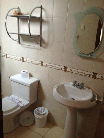 El Virrey Boutique Hostal : Vista do pequeno banheiro
