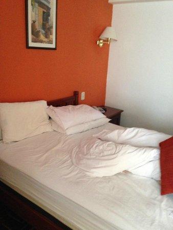 El Virrey Boutique Hostal: Vista do apartamento/cama
