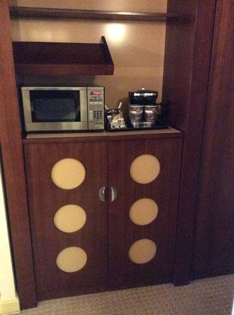 DoubleTree DFW Airport North: microwave & fridge( not shown)