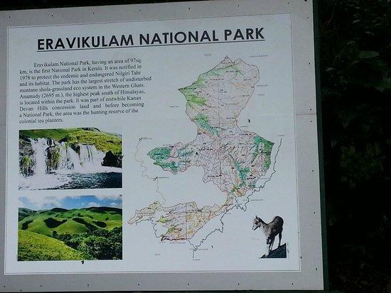 Rajamalai (Eravikulam) National Park : The park map