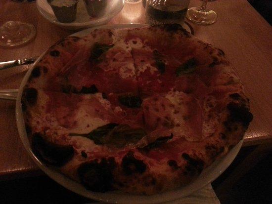 Pastaria : Margherita with prosciutto!