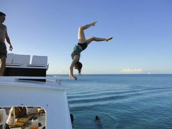 Island Vibes Tours: making good use of the top deck diving board