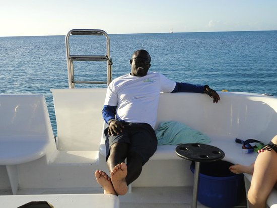 Island Vibes Tours: Our Captain kicking back