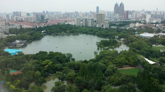 JW Marriott Hotel Shanghai Changfeng Park: The Park view from the room.