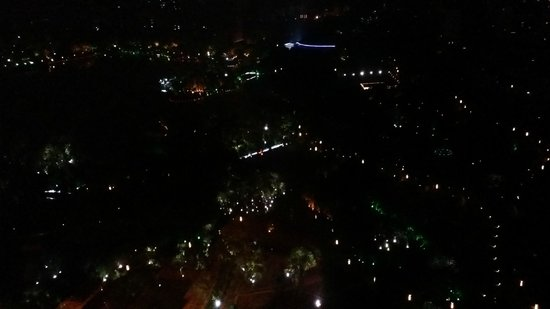 JW Marriott Hotel Shanghai Changfeng Park: The Park view from the room at night