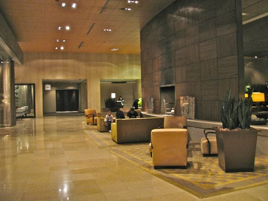 Sheraton Miyako Hotel Tokyo: As you enter the hotel..nice seating area with fireplace