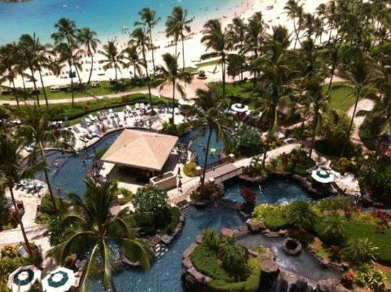 Marriott Ko Olina Beach Club: View from Room - Lagoon Pools