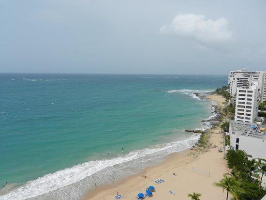 San Juan Marriott Resort & Stellaris Casino: View from ocean facing balcony