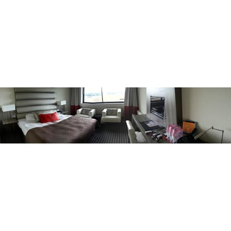 Hotel van der Valk Maastricht: Panoramic cell phone photo of my room