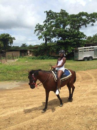 Carabali Rainforest Park: My baby riding