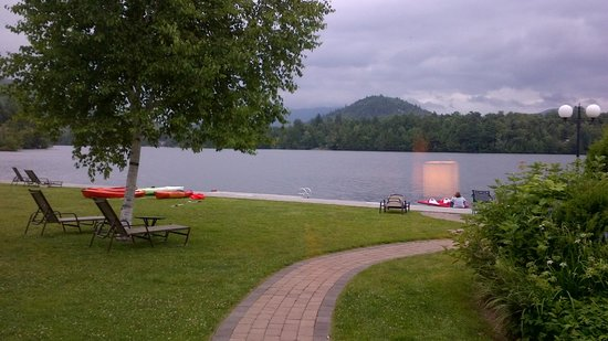 High Peaks Resort : The view of the lake and dock for water sports from room 709.