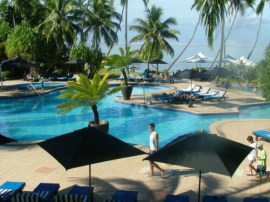 The Warwick Fiji: The view from our Balcony Ocean View Room