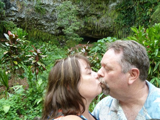 Fern Grotto : The Renewal of our Wedding Vows kiss...