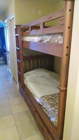 Blue Heron Beach Resort: The bunks for my boys!!!