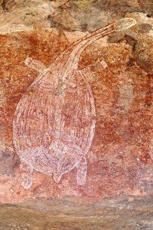 Ubirr: One of many pieces of ancient Aboriginal rock art