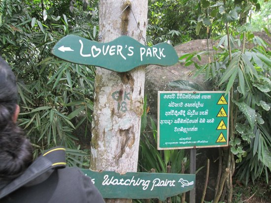 Epitawala, Sri Lanka: Entrance to the Lovers Park