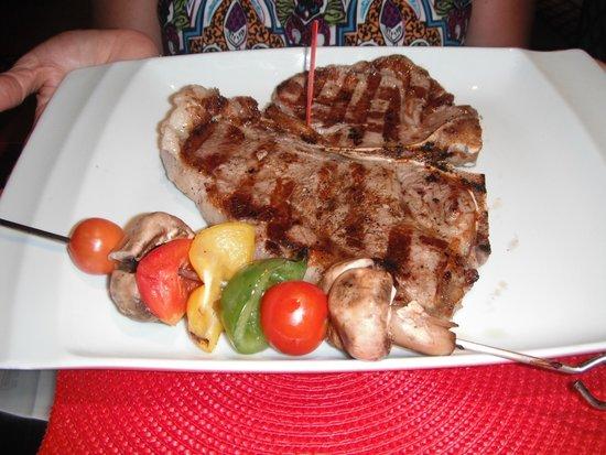 Club Med Cancun Yucatan: T-Bone steak at specialty restaurant