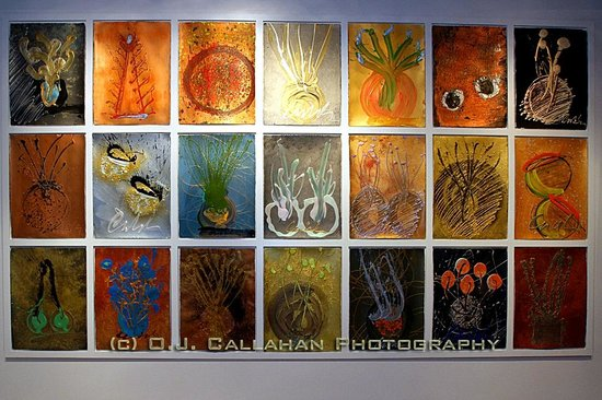 """Chihuly Collection: """"Drawing Wall, 2010 by Dale Chihuly Photograph by O.J. Callahan"""