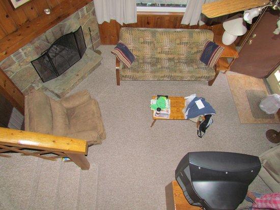Blackhawk Lodges: Cabin 8 - looking down from the loft