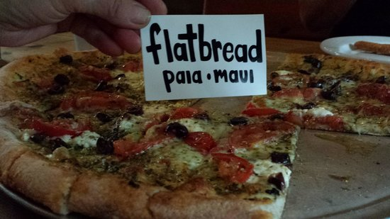 Flatbread Company: you get a free STICKER at the door!!