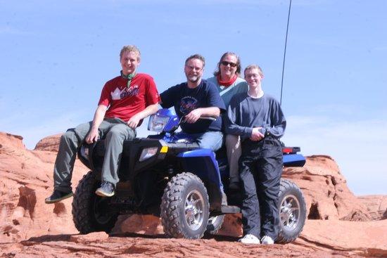 ATV and Jeep Adventure Tours: The Potter family on their ATV trip