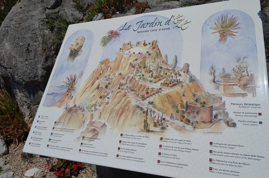 Chateau de la Chevre d'Or : el jardin