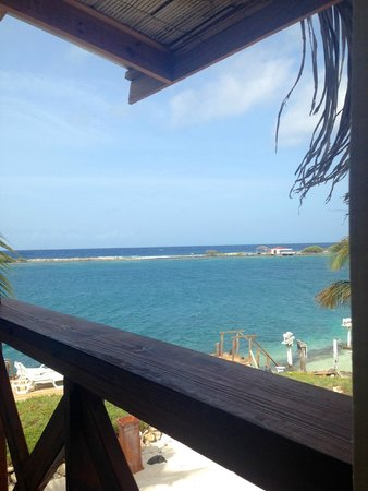 Coral Reef Beach Villa and Apartments : Vista do quarto