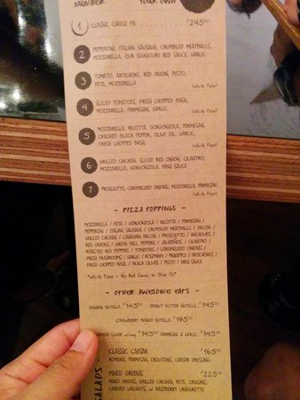 Project Pie: the menu