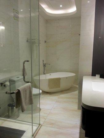 Pacific Regency Hotel Suites : Big yet useless bathtub!
