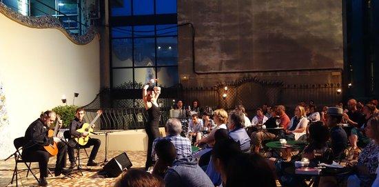 Casa Batlló: Evening entertainment on the Casa Batllo outdoor patio