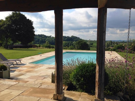 Maison d'Amis at Domaine de Polus: Another shot of the pool and view beyond.