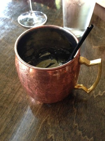 Sante Restaurant & Charcuterie: Moscow Mule in a copper cup