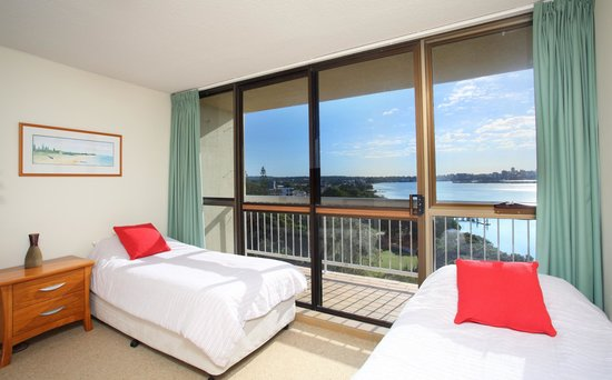 Second bedroom - twin share with balcony access  - Gemini Resort