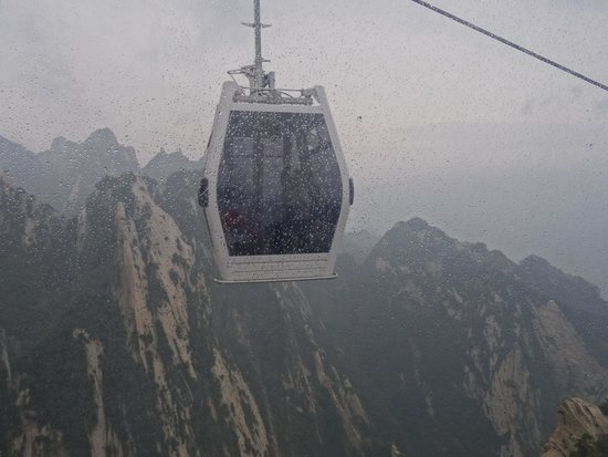 Mount Huashan: Фуникулер с Западного пика