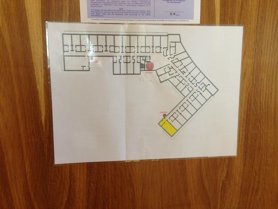 Ibiscus Hotel: Floor plan