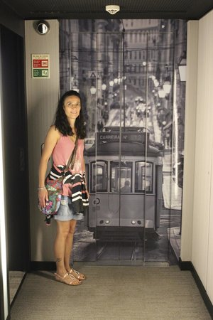 Vincci Baixa: extérieur de l'ascenseur