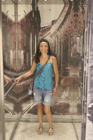 Vincci Baixa: intérieur de l'ascenseur