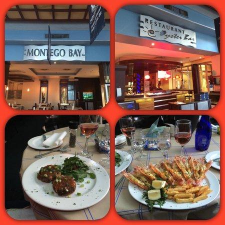 Montego Bay serves excellent seafood