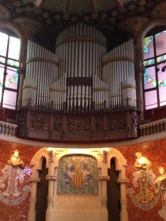 Palais de la Musique Catalane (Palau de la Musica Catalana) : Orgue
