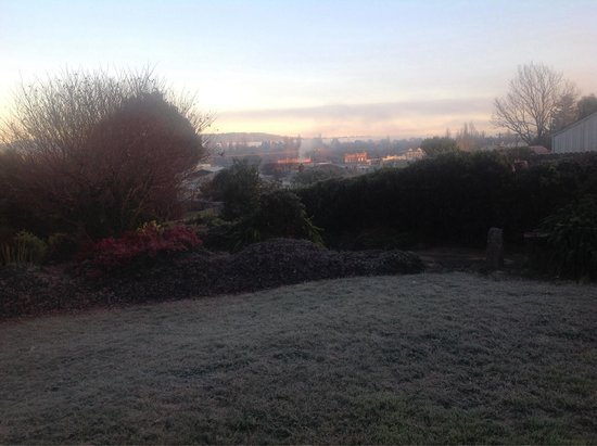 The Glass House: A glorious Winter morning in July.