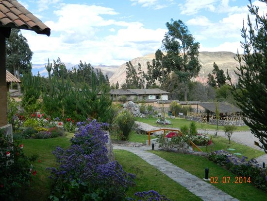Casa Andina Premium Valle Sagrado Hotel & Villas : Lovely views to look at whilst you have your morning coffee on the veranda