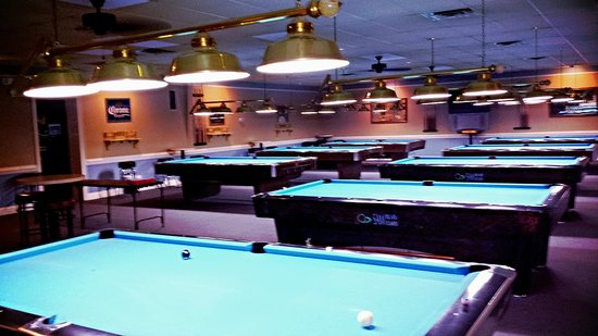Sharks N Shooters: 8 REGULATION Sized Pool Tables!