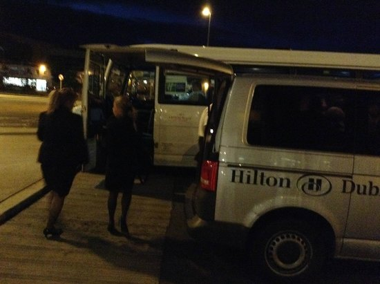 Hilton Dublin Airport Hotel: Hilton night bus arrives - but won't be taking guests