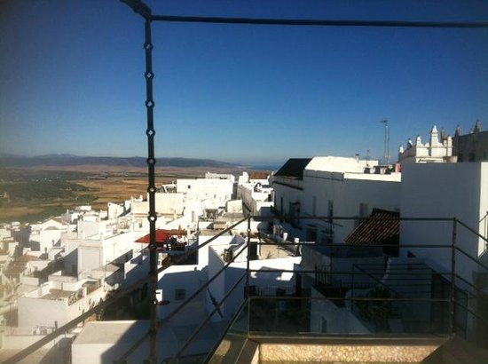 View from the Hotel V's Roof Terrace towards the Atlantic