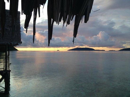 Papua Explorers Resort : Zimmeraussicht Papua Explorers Raja Ampat