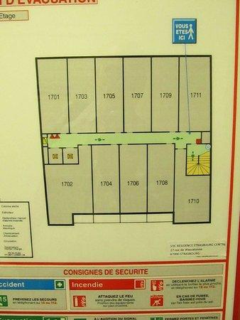 Adagio Access Strasbourg Petite France : 7th floor layout