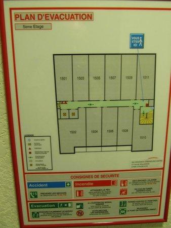 Adagio Access Strasbourg Petite France : 5th floor layout
